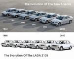 Сравнение эволюции пятой серии БМВ и ТАЗ 2105