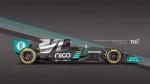 Оригинальный дизайн Mercedes F1 W07
