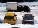 Снег в питерских дворах 2