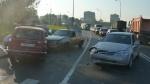 Авария на Октябрьской набережной в Петербурге